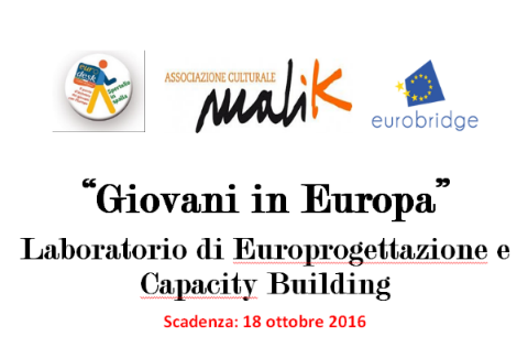 'Giovani In Europa'  Laboratorio di Europrogettazione e Capacity Building